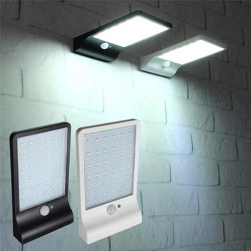 lampara solar 36 led exterior sensor movimiento 450 lumens