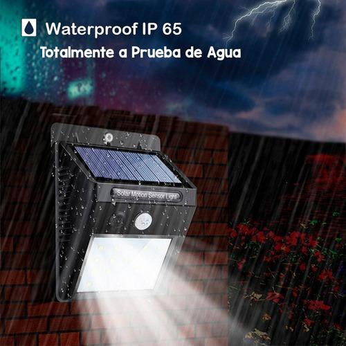 lámpara solar 40 leds exterior sensor movimiento impermeable