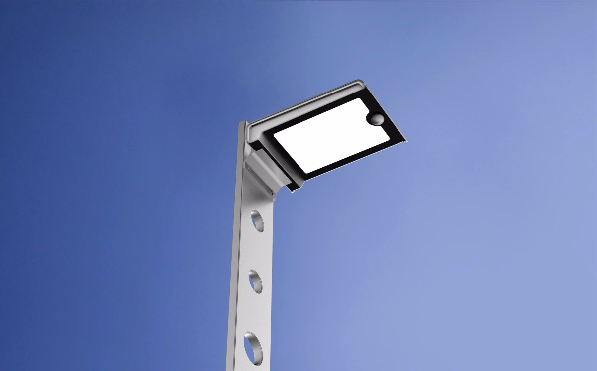 Lampara solar 46 led prende toda la noche aluminio 2018 for Lampara solar led
