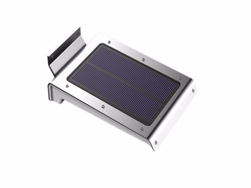 Lampara solar 46 leds inteligente p exterior en for Lampara solar pared exterior