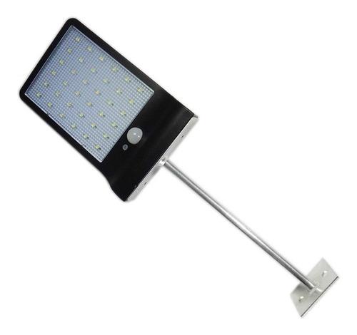 lampara solar 48 leds exterior energia gratis con sensor de movimiento y control remoto pared jardin