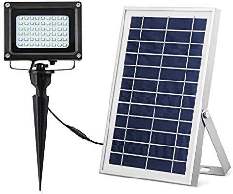 lampara solar 54 leds exteriores y jardin 3w mini reflector