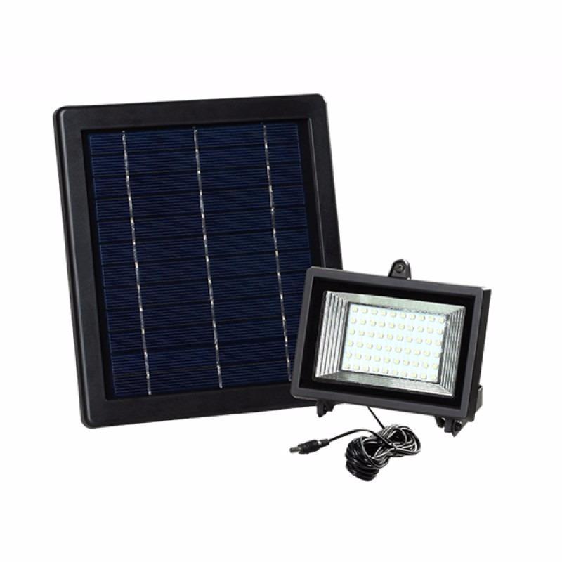 L mpara solar 60 leds para exteriores y jard n panel solar - Lamparas solares de jardin ...