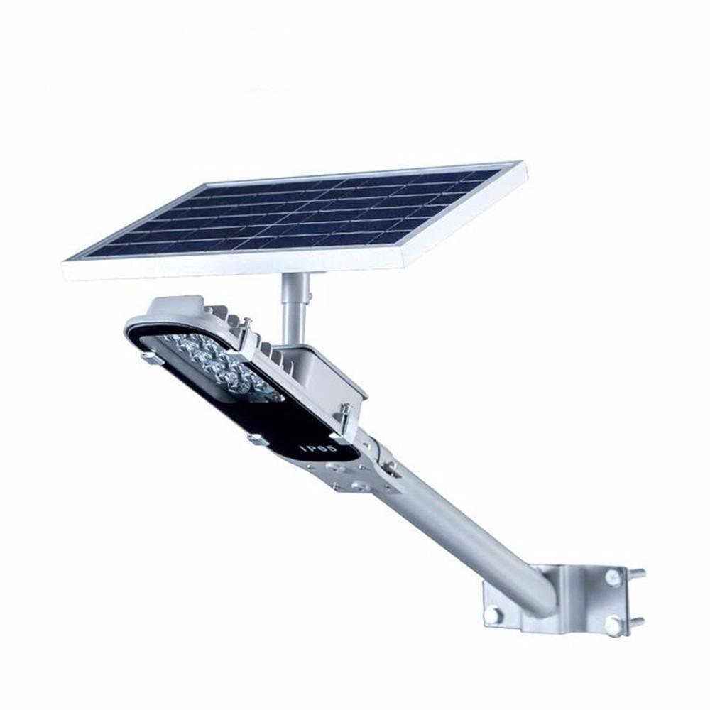 Lampara solar alumbrado publico 12w panel solar exteriores for Alumbrado solar jardin