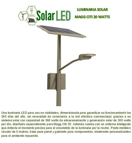 lampara solar alumbrado público lista para instalar c/poste