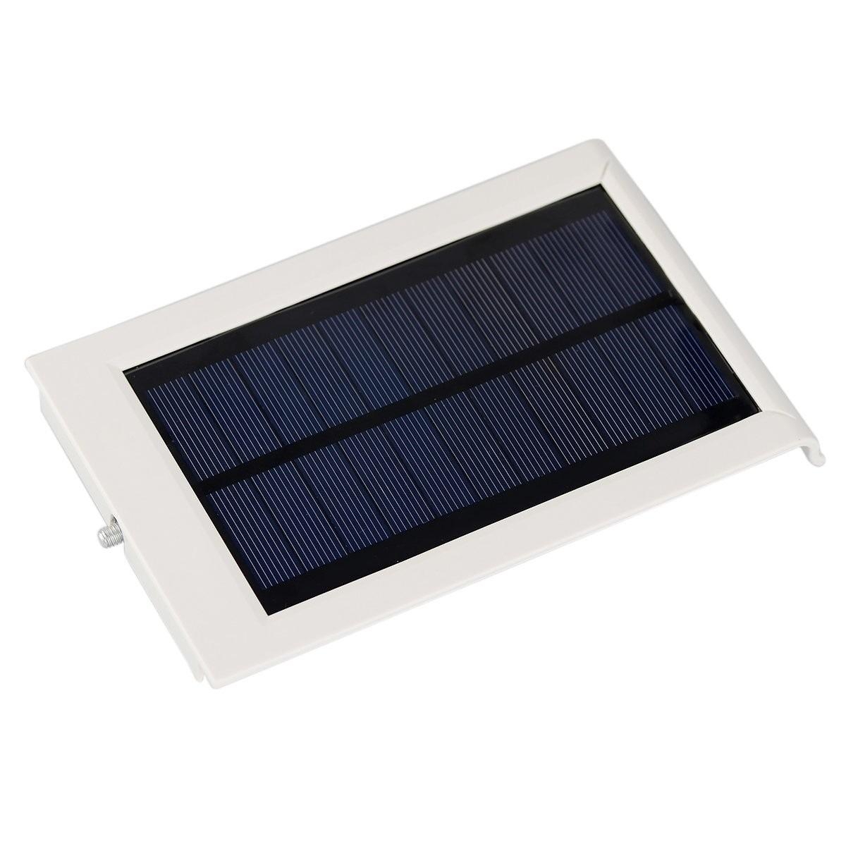 L mpara solar de 12 super leds luminaria led solar for Lampara solar de jardin