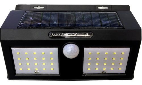 lampara solar de pared doble - luz potente fija