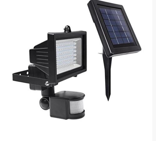 L mpara solar de seguridad 60 leds para exteriores panel sol en mercado libre - Lampara solar exterior ...