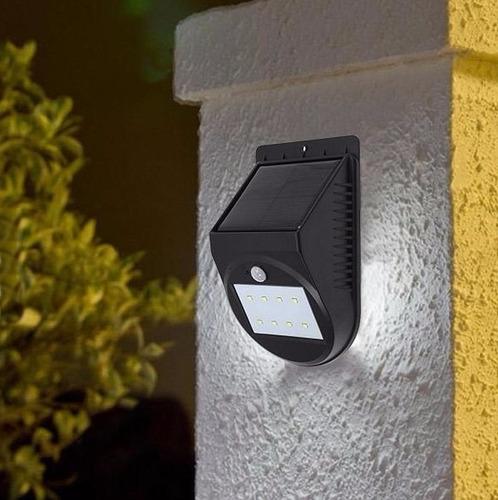lámpara solar exterior con sensor de movimiento arotek 8 led