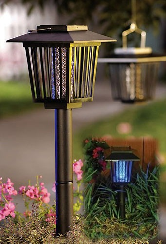 Lampara solar exterminador de mosquitos insectos led y uv for Lampara solar led
