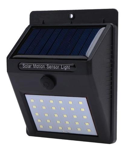 lampara solar foco potente 30 led - sensor celula luz farol