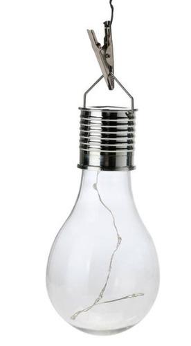 lámpara solar jardín decoración integrada foco tira led