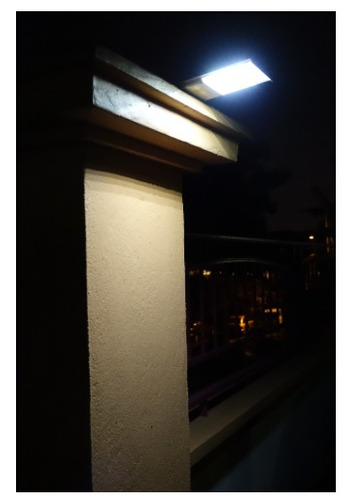 lampara solar led 12w recargable automatica exteriores stk
