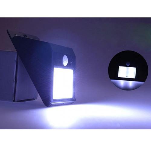 lámpara solar led con sensor de movimiento para exterior