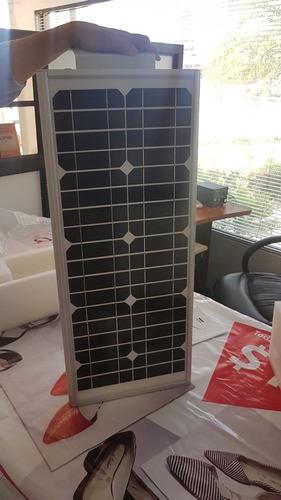 lámpara solar led de poste 12w todo en uno panel solar