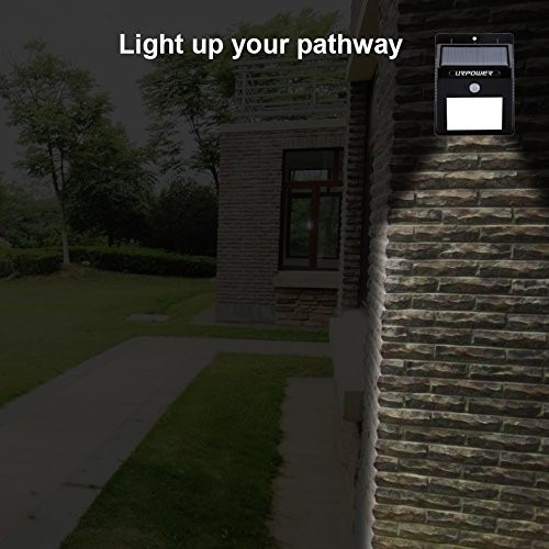 lampara solar led para patio 2pcs solar motion