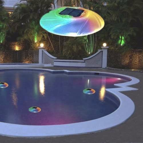 L mpara solar led para piscina jard n camping bestway for Lamparas para piscinas