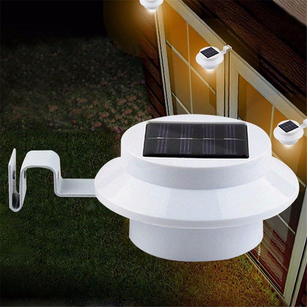 Lampara solar led prueba de agua para jardin pared techo for Lamparas de led para jardin