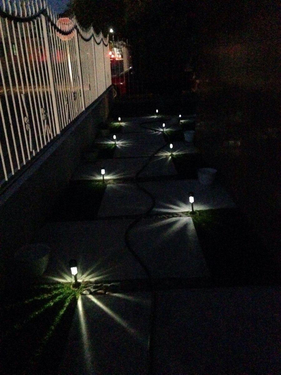 L mpara solar luces luz jard n exterior led en for Lamparas jardin