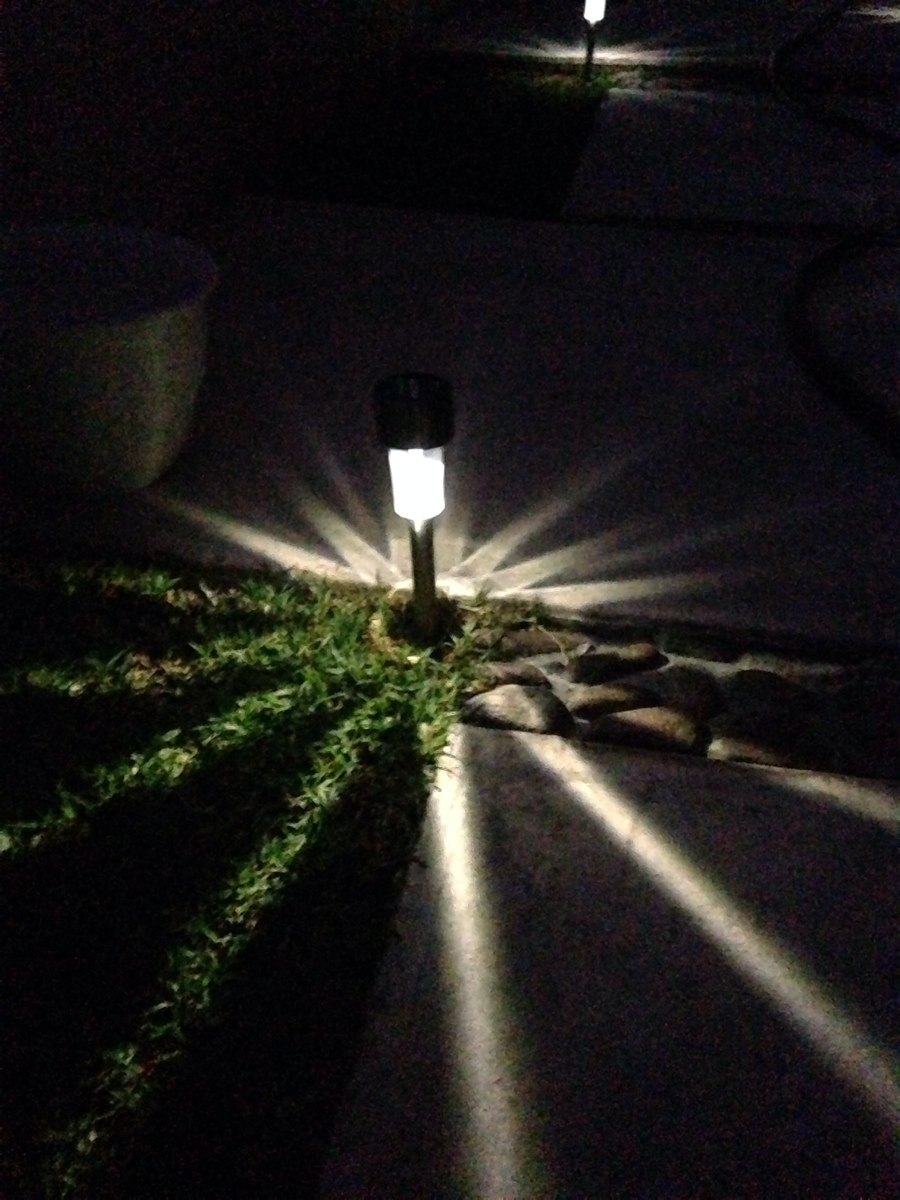 L mpara solar luces luz jard n exterior led en for Lamparas led para jardin
