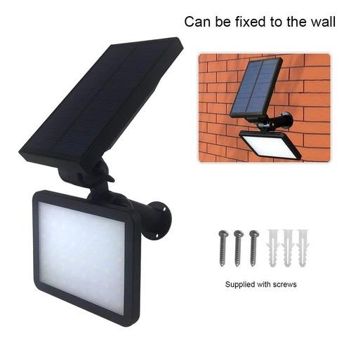 lampara solar luz 48 led 2 en 1 estaca o pared sensor mov