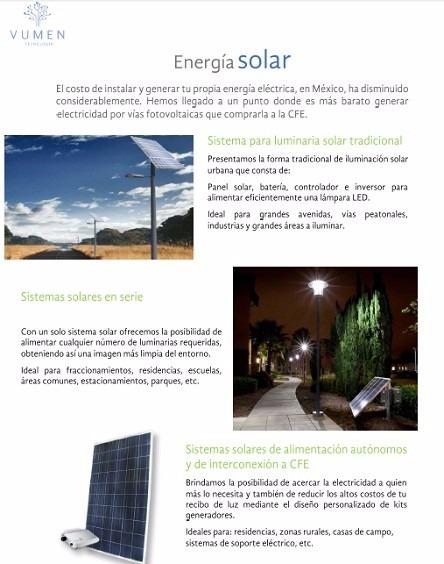 Lampara solar para alumbrado publico 14 en for Alumbrado solar jardin