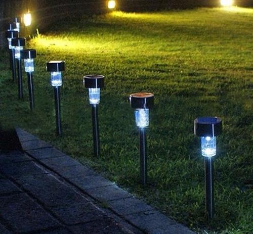 lampara solar para jardin de sol colores externa agua