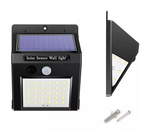 lampara solar pared 40 leds 3en1 altas bajas impermeable mnr