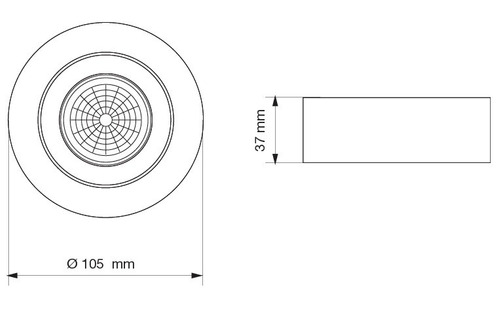 lámpara spot plafón semi embutido 7w gu10 led circular móvil aplique para caja octogonal