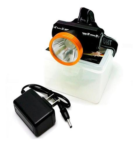 lampara super led tipo minero 3 w cabeza recargable