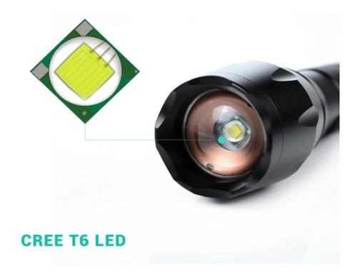 lampara tactica 3000 lumens cree led t6 recargable 8800mah