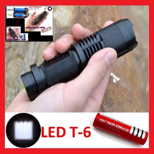 lampara tactica mediana 3400 lumens t6 recargable no mini