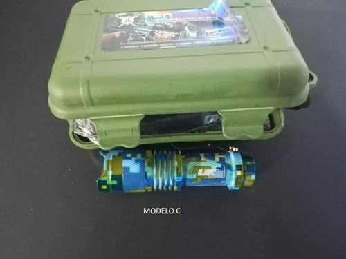 lampara tactica mini 5 modos camu recargable ledq5