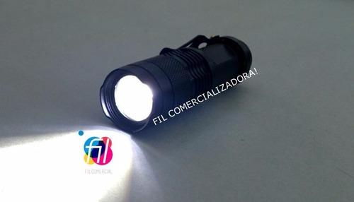 lampara tactica paquete 10 piezas cree led q5 zoom + regalo
