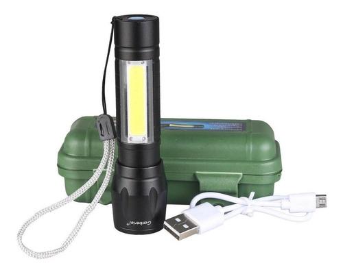 lampara tactica recargable 2000l linterna lateral mod2021