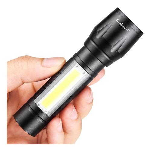 lampara tactica recargable led 2000l linterna lateral usb
