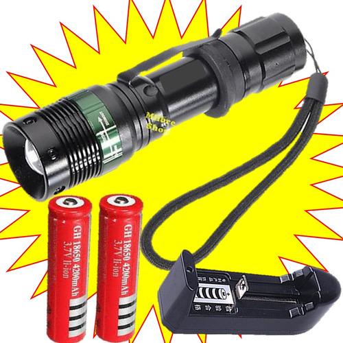 lampara tactica recargable power style 1200 lms nva.edicion*