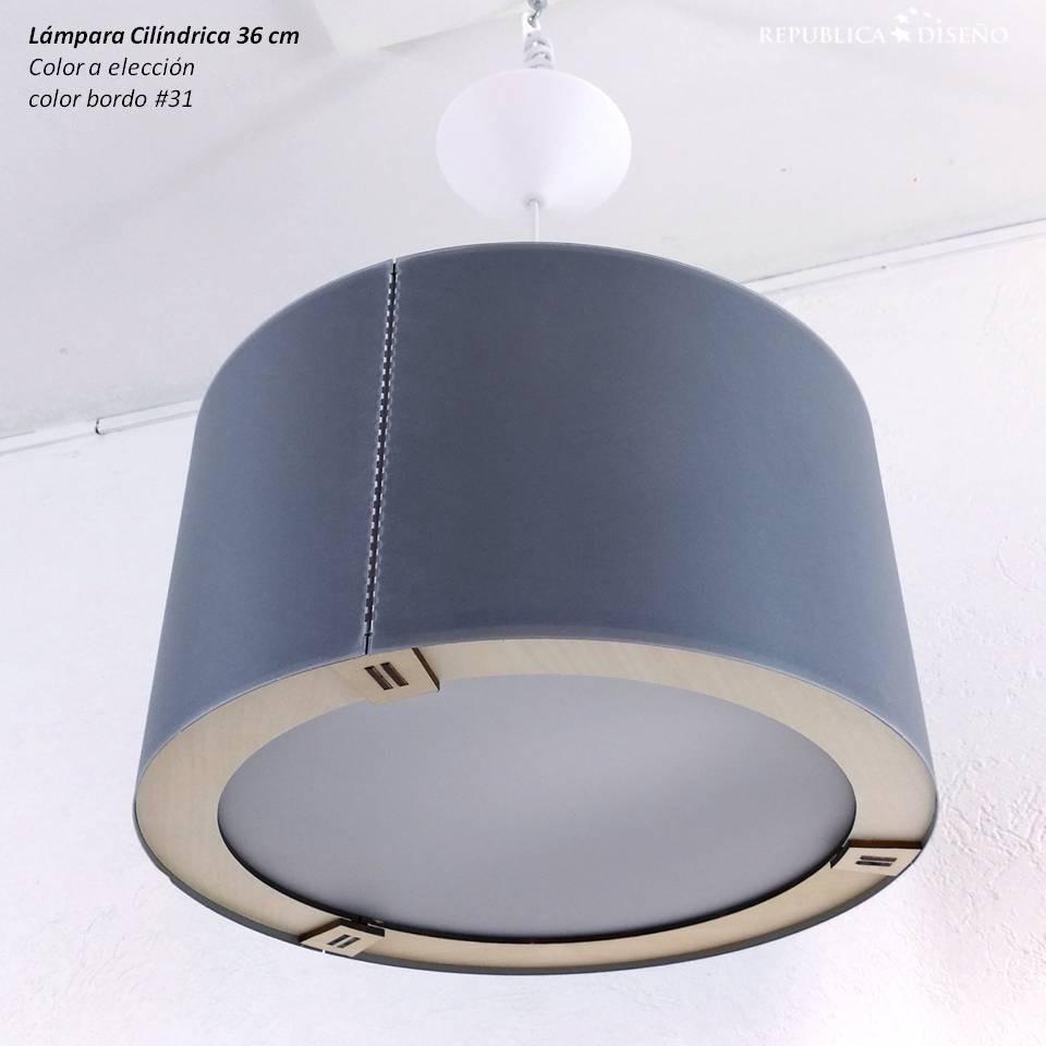 Lámpara O Moderno Cilindro Diseño 36x20cm Techo Gris Elegir Yfgy7vb6