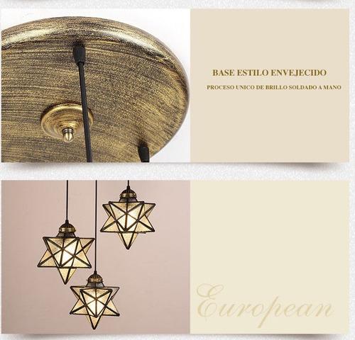 lámpara techo colgante tipo tiffany d081010-3-5