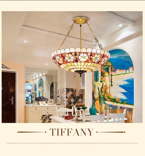 lámpara techo colgante tipo tiffany fb241001