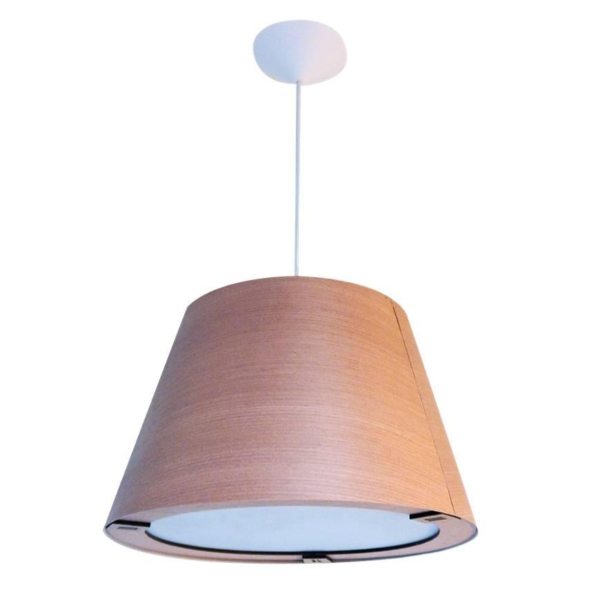 Madera 36x24cm Diseño Conica Techo Lámpara Cedro Moderno gIy76fYbv