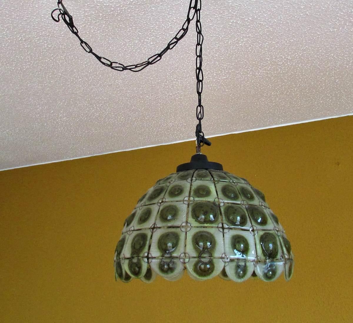 Lampara de techo para sala o comedor en vitrales 300 - Fotos de lamparas de techo ...