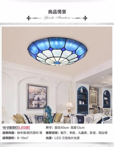 lámpara techo tipo tiffany x161024-2