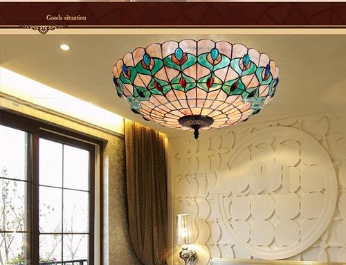 lámpara techo tipo tiffany xb201008