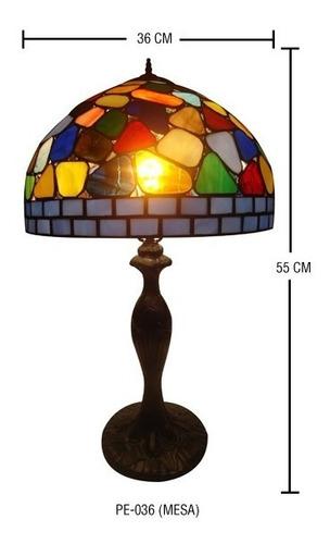 lampara tiffany grande  modelo pe-036 con base