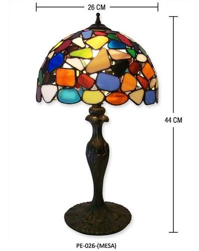 lampara tiffany mediana modelo pe-026 con base