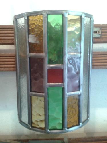 lampara tiffany modelo aplique medio cilindro