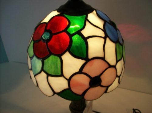 lampara tiffany modelo f-018 con base