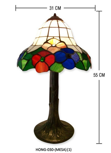 lampara tiffany modelo  hong-031 con base