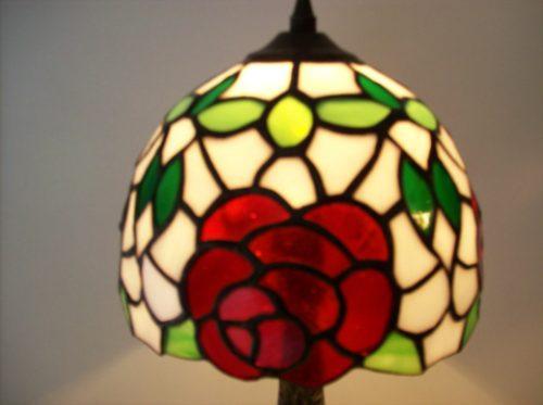 lampara tiffany modelo ros-018 con base